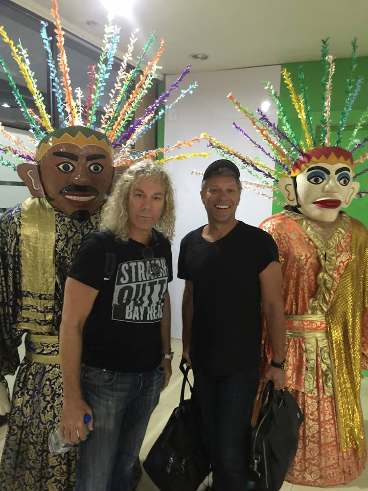 Jon Bon Jovi et Dave Bryan à Jakarta